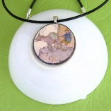 The Ass and His Driver Fable Pendant Necklace