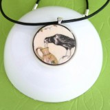 The Crow and the Pitcher Fable Pendant Necklace