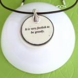 The Dog and His Reflection Fable Pendant Necklace