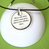 The Goose and the Golden Egg Fable Pendant Necklace