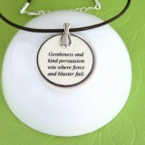 The North Wind and the Sun Fable Pendant Necklace