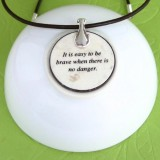 The Sheep and the Pig Fable Pendant Necklace