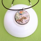 The Shepherd Boy and the Wolf Fable Pendant Necklace